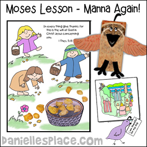 Moses Bible Lesson - THe Israelites Complain about Manna