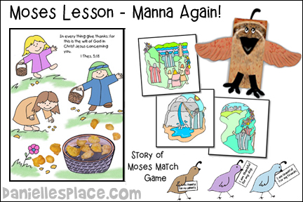 Moses Bible Crafts And Review Games About Manna