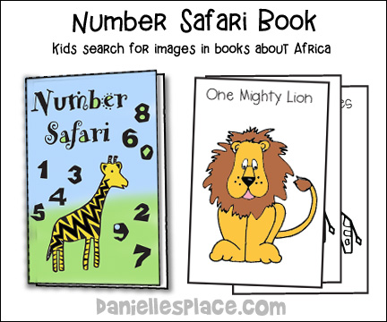 Number Safari Activity and Coloring Book