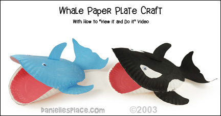 Whale Paper Plate Craft from www.daniellesplace.com
