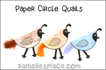 Paper Circle Quail Craft for Kids