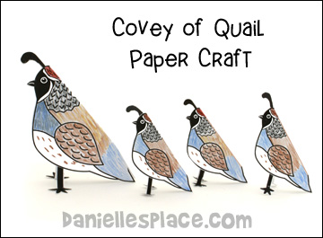 Covey of Quail Paper Craft