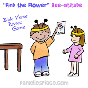 FInd the Flower4 Bee-atitude Bible Verse Review Game from www.daniellesplace.com