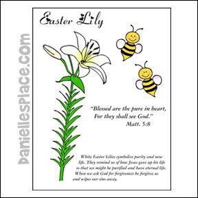 Beatitudes Easter Lily Color Sheet from www.daniellesplace.com