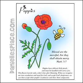 Beatitudes Poppies Coloring Sheet from www.daniellesplace.com