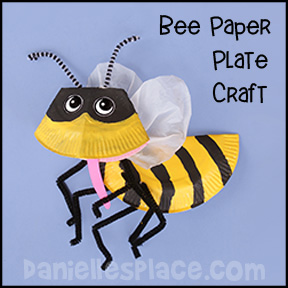 Bee Paper Plate Craft from www.daniellesplace.com