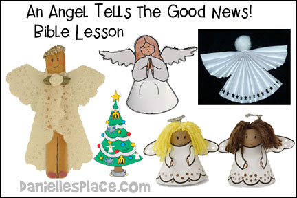 Angel Tells The Good News Lesson Kids