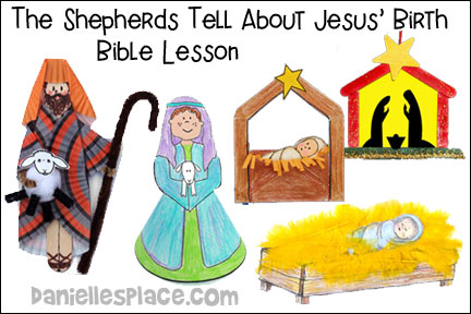 Christmas Story Tree - The Shepherds Tell about Jesus' Birth Bible Lesson