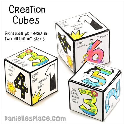 Creation Cubes Craft and Learning Activity