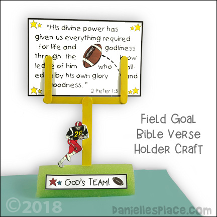 Football Goal Post Card or Picture Holder Craft