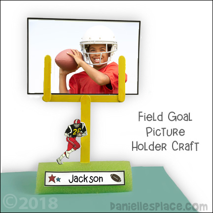 Craft Stick Goal Post Picture Holder Craft for Kids