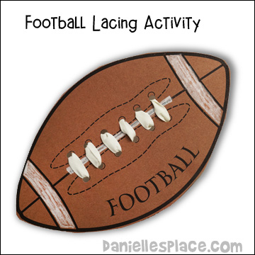 Football Lacing Activity from www.daniellesplace.com