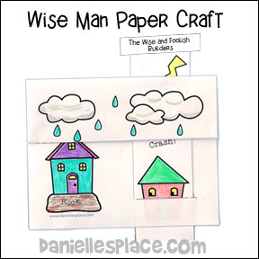 Wise and Foolish Builders House Paper Craft