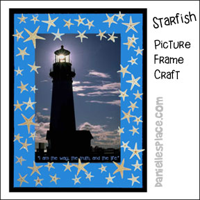 Starfish Lighthouse Picture Frame Craft for Kids