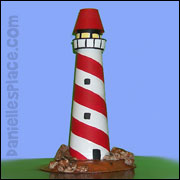 Lighthouse paper craft