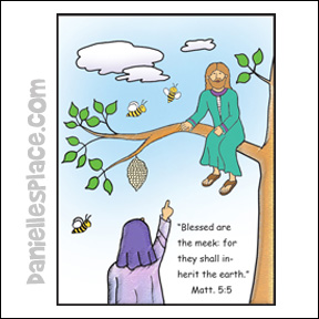 Jesus Talks to Zacchaeus Coloring Sheet from www.daniellesplace.com