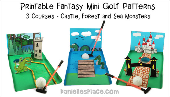 Fantasy Themed Paper Mini Golf Patterns from www.daniellesplace.com