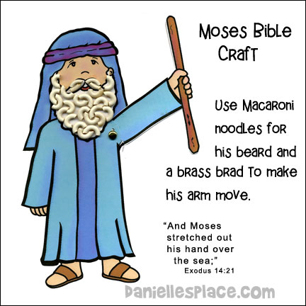 Moses Parts the Red Sea Bible Craft for Children