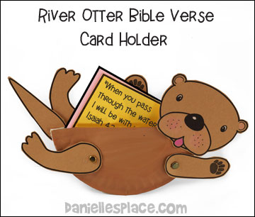 River Otter Bible Verse Card Holder