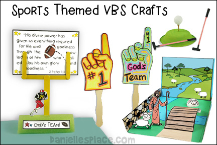 Sports Themed VBS Crafts and Activities