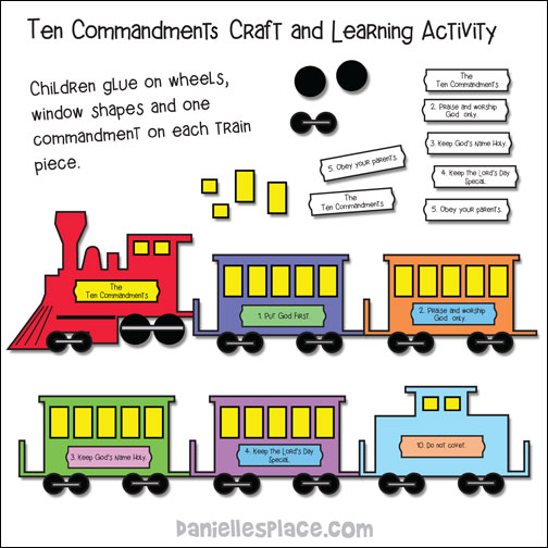 Ten Commandment Train and Learning Activity