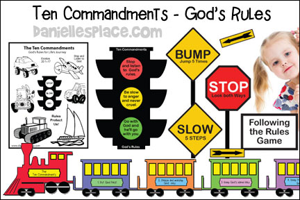 Ten Commandments - God's Rules Bible Lesson and Crafts