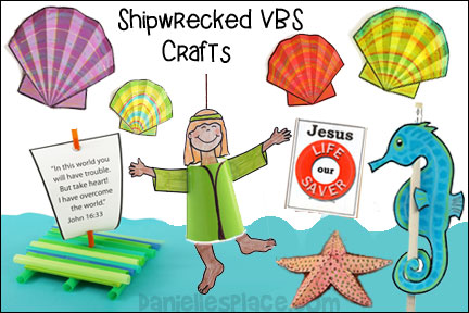 VBS Shipwrecked Craft Ideas - 2018