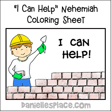 Nehemiah Coloring Sheet from www.daniellesplace.com