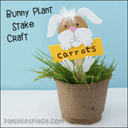 Bunny Plant Stake Craft for Children
