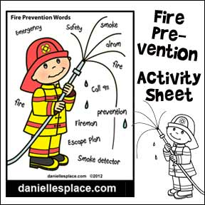 Fire Prevention Activity Sheet member's Pattern