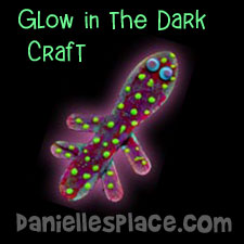 Glow in the Dark Craft - Lizard