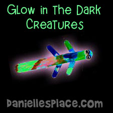 Glow in the Dark Craft Stick Creatures Craft