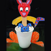 Kangaroo Cup Craft From Daniellesplace