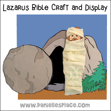 Lazarus Bible Craft and Display for Sunday School from www.daniellesplace.com