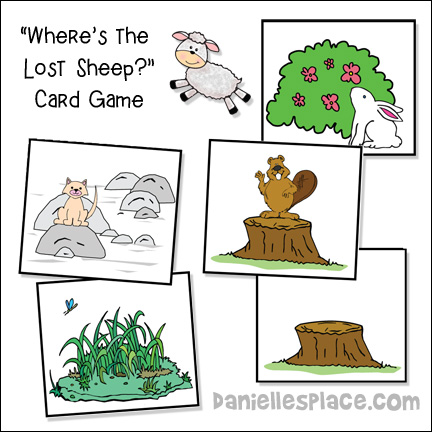 Children Take Turns Turning Over A Card To See If They Can Find The Lost Sheep Each Reveals Different Animal Hiding Behind Object On