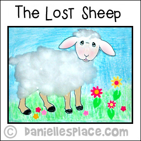 The Lost Sheep - Cotton Ball Craft for Kids