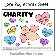 Love Bug Activity Sheet
