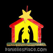Glowing Craft Stick Nativity Scene Ornament Craft