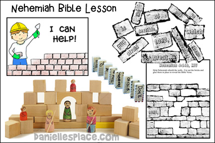 Nehemiah Bible Lesson from www.daniellesplace.com
