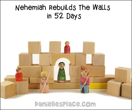 Nehemiah Builds the Wall Blocks Activity