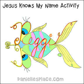 Jesus Knows My Name Activity 1
