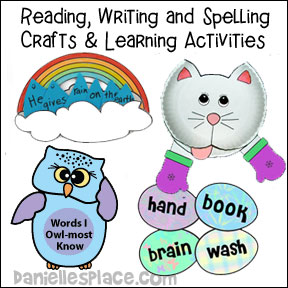 Reading, Writing, and Spelling Crafts and Learning Activities from www.daniellesplace.com