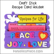 Craft Stick Recipe Card Holder