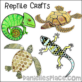 Reptile Crafts and Learning Activities for Children from www.daniellesplace.com