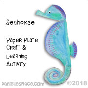 Seahorse paper Plate Craft from www.daniellesplace.com