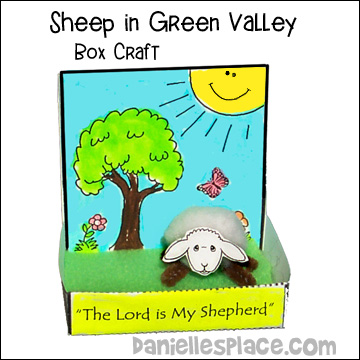 Sheep In Green Valley Box Craft For Psalms 23 Bible Lesson From Daniellesplace