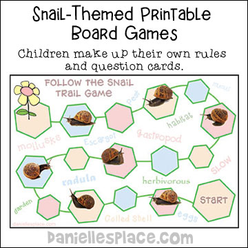Snail Game Board Science and Writing Activity