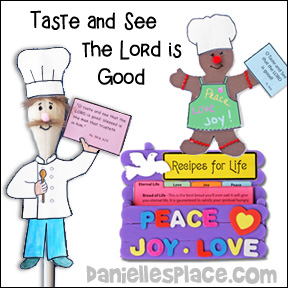 Taste and See that the Lord is Good Bible Crafts