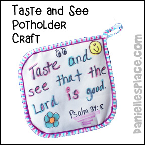 Taste and See Potholder Craft