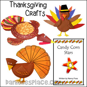 Thanksgiving Crafts for Children from www.daniellesplace.com